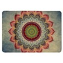 Folk Art Lotus Mandala Dirty Blue Red Samsung Galaxy Tab 8.9  P7300 Flip Case View1