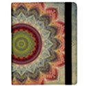 Folk Art Lotus Mandala Dirty Blue Red Samsung Galaxy Tab 8.9  P7300 Flip Case View2