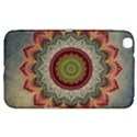 Folk Art Lotus Mandala Dirty Blue Red Samsung Galaxy Tab 3 (8 ) T3100 Hardshell Case  View1