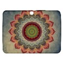 Folk Art Lotus Mandala Dirty Blue Red Samsung Galaxy Tab 3 (10.1 ) P5200 Hardshell Case  View1