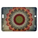 Folk Art Lotus Mandala Dirty Blue Red Amazon Kindle Fire HD (2013) Hardshell Case View1