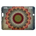 Folk Art Lotus Mandala Dirty Blue Red Kindle Fire HDX Hardshell Case View1