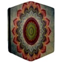 Folk Art Lotus Mandala Dirty Blue Red iPad Mini 2 Flip Cases View3