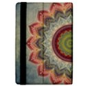 Folk Art Lotus Mandala Dirty Blue Red iPad Mini 2 Flip Cases View4