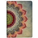 Folk Art Lotus Mandala Dirty Blue Red iPad Air Flip View1
