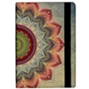 Folk Art Lotus Mandala Dirty Blue Red iPad Air Flip View2