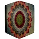 Folk Art Lotus Mandala Dirty Blue Red iPad Air Flip View3