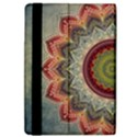 Folk Art Lotus Mandala Dirty Blue Red iPad Air 2 Flip View4