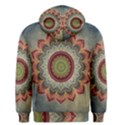 Folk Art Lotus Mandala Dirty Blue Red Men s Pullover Hoodie View2
