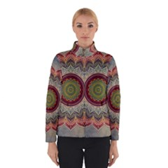 Folk Art Lotus Mandala Dirty Blue Red Winterwear
