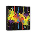 Crazy Multicolored Double Running Splashes Horizon Mini Canvas 4  x 4  View1
