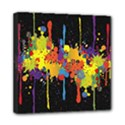Crazy Multicolored Double Running Splashes Horizon Mini Canvas 8  x 8  View1