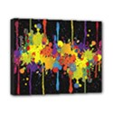 Crazy Multicolored Double Running Splashes Horizon Canvas 10  x 8  View1