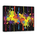 Crazy Multicolored Double Running Splashes Horizon Canvas 14  x 11  View1