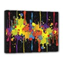 Crazy Multicolored Double Running Splashes Horizon Canvas 16  x 12  View1