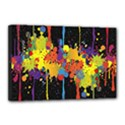 Crazy Multicolored Double Running Splashes Horizon Canvas 18  x 12  View1