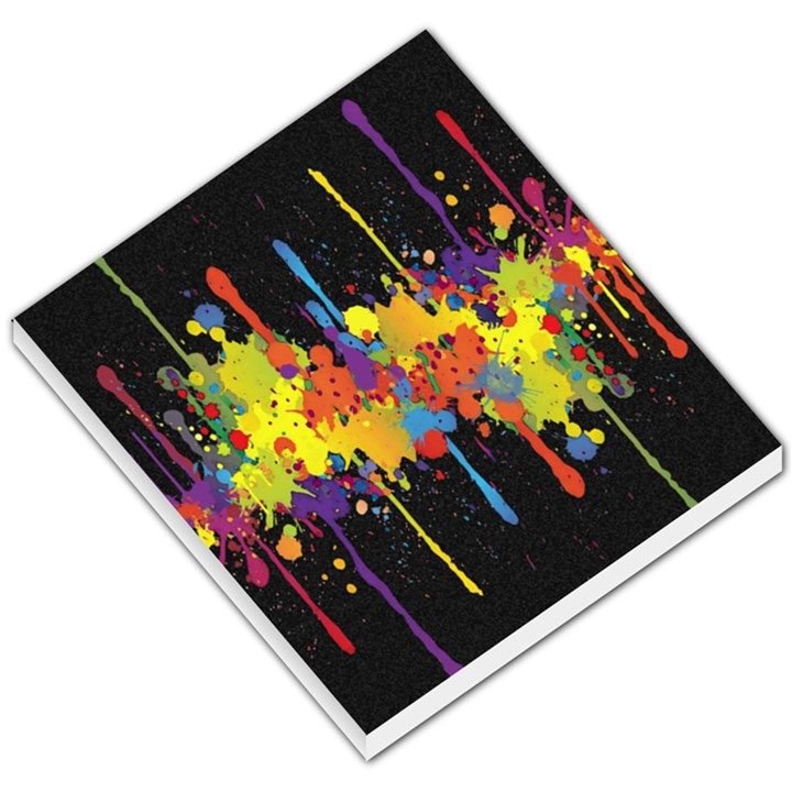 Crazy Multicolored Double Running Splashes Horizon Small Memo Pads