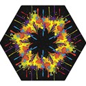Crazy Multicolored Double Running Splashes Horizon Mini Folding Umbrellas View1