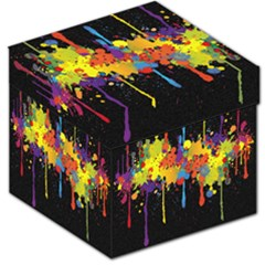 Crazy Multicolored Double Running Splashes Horizon Storage Stool 12