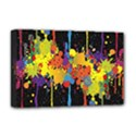 Crazy Multicolored Double Running Splashes Horizon Deluxe Canvas 18  x 12   View1