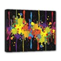 Crazy Multicolored Double Running Splashes Horizon Deluxe Canvas 20  x 16   View1