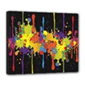 Crazy Multicolored Double Running Splashes Horizon Deluxe Canvas 24  x 20   View1