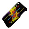 Crazy Multicolored Double Running Splashes Horizon Apple iPhone 3G/3GS Hardshell Case View4