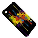 Crazy Multicolored Double Running Splashes Horizon Apple iPhone 3G/3GS Hardshell Case View5