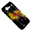 Crazy Multicolored Double Running Splashes Horizon HTC Incredible S Hardshell Case  View5