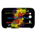 Crazy Multicolored Double Running Splashes Horizon HTC Wildfire S A510e Hardshell Case View1