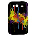 Crazy Multicolored Double Running Splashes Horizon HTC Wildfire S A510e Hardshell Case View2