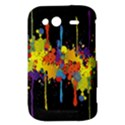 Crazy Multicolored Double Running Splashes Horizon HTC Wildfire S A510e Hardshell Case View3