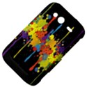 Crazy Multicolored Double Running Splashes Horizon HTC Wildfire S A510e Hardshell Case View4