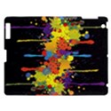 Crazy Multicolored Double Running Splashes Horizon Apple iPad 3/4 Hardshell Case View1