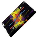 Crazy Multicolored Double Running Splashes Horizon Apple iPad 3/4 Hardshell Case View4