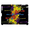 Crazy Multicolored Double Running Splashes Horizon Apple iPad 3/4 Hardshell Case (Compatible with Smart Cover) View1