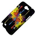 Crazy Multicolored Double Running Splashes Horizon Samsung Galaxy Note 2 Hardshell Case View4