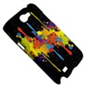 Crazy Multicolored Double Running Splashes Horizon Samsung Galaxy Note 2 Hardshell Case View5