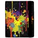 Crazy Multicolored Double Running Splashes Horizon Apple iPad 2 Flip Case View2
