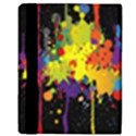 Crazy Multicolored Double Running Splashes Horizon Apple iPad 2 Flip Case View3