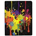 Crazy Multicolored Double Running Splashes Horizon Apple iPad 3/4 Flip Case View1
