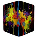 Crazy Multicolored Double Running Splashes Horizon Apple iPad 3/4 Flip Case View4