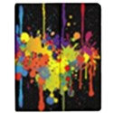 Crazy Multicolored Double Running Splashes Horizon Apple iPad Mini Flip Case View1