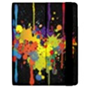 Crazy Multicolored Double Running Splashes Horizon Apple iPad Mini Flip Case View2