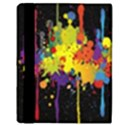 Crazy Multicolored Double Running Splashes Horizon Apple iPad Mini Flip Case View3