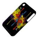 Crazy Multicolored Double Running Splashes Horizon Apple iPhone 3G/3GS Hardshell Case (PC+Silicone) View4