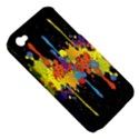 Crazy Multicolored Double Running Splashes Horizon Apple iPhone 4/4S Hardshell Case (PC+Silicone) View5