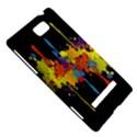 Crazy Multicolored Double Running Splashes Horizon HTC 8S Hardshell Case View5