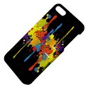 Crazy Multicolored Double Running Splashes Horizon Apple iPhone 5 Hardshell Case with Stand View4
