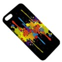 Crazy Multicolored Double Running Splashes Horizon Apple iPhone 5 Hardshell Case with Stand View5